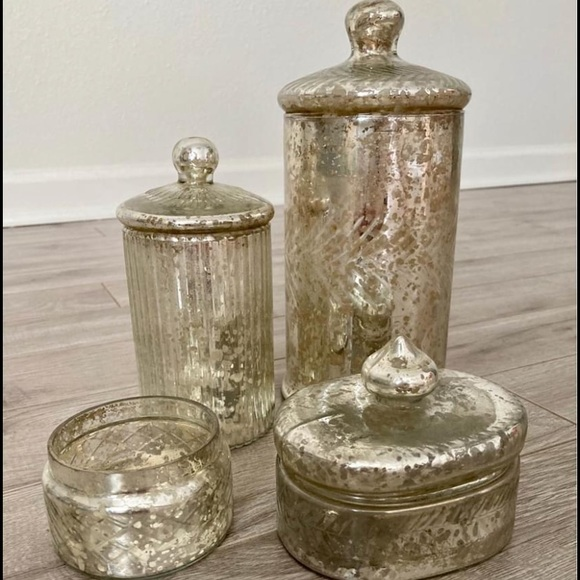 Anthropologie Other - Anthropologie Mercury glass set
